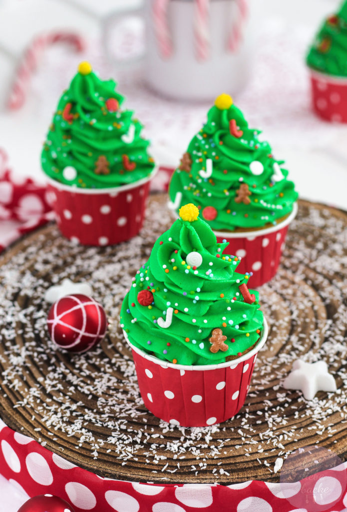 weihnachtsbaum cupcakes mit bratapfelmuffins lebe liebe. Black Bedroom Furniture Sets. Home Design Ideas